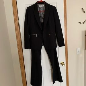Pinstripe pants suit